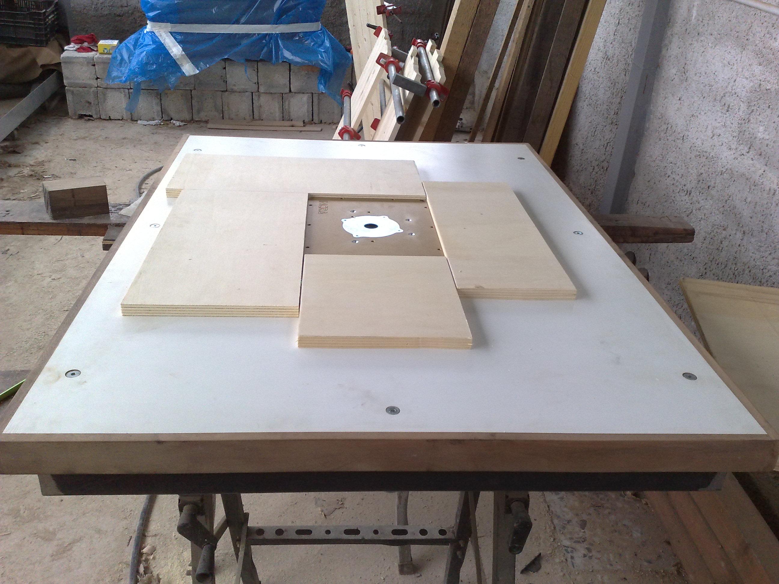 Falegnameria in generale autocostruzione banco fresa for Banco fresa legno